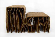 recycling bútorok a bábokból megmaradt textilekből!!!
