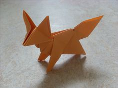 Fox (Peterpaul Forcher) | Flickr - Photo Sharing! Diagram at http://www.origamiseiten.de/forcher/fuchs96.pdf