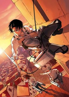 Attack on titan: Levi Rivaille | is that Hanji and Jean below him tho?? Why Jean?? Maybe e