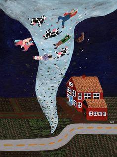 why always include the cow? haha im curious :x / Hurricane Art Print