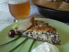 Hellena  ...din bucataria mea...: Tarta rustica cu branza si ciuperci de padure (ghe...