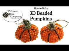 ▶ Make 3D Beaded Pumpkins - YouTube free tutorial from The Potomac Bead Company www.potomacbeads.com Buy Online: www.thebeadco.com