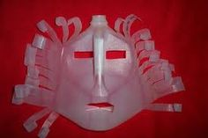Milk jug mask.  My boys would love these.