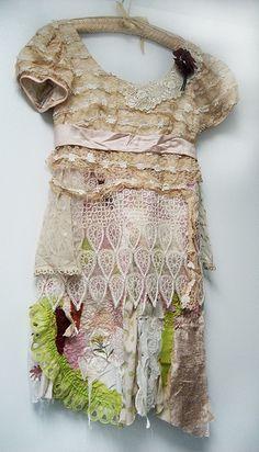 ..a bohemian Recycle romantic dress ..☮