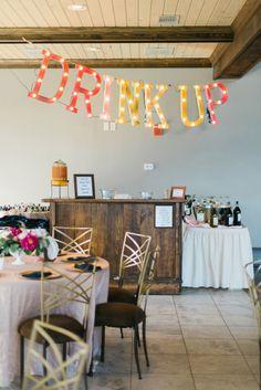 Bar inspiration: http://www.stylemepretty.com/georgia-weddings/douglasville/2015/03/20/whimsical-georgia-summer-wedding/ | Photography: Rustic White - http://www.rusticwhite.com/