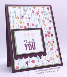 Painted Petals, Stampin' Up!, Brian King, FMS166 Occasions  Catalog 2015 floral flower thank you