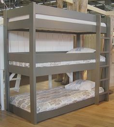 Bedroom: Triple Bunk Bed Ideas For Your Kids, Triple Bunk Bed furniture ideas pics, triple bunk bed plans