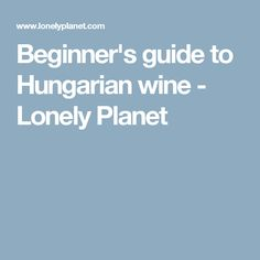 Beginner's guide to Hungarian wine - Lonely Planet