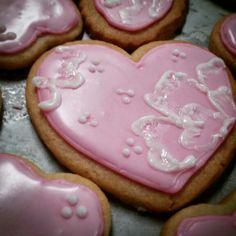 Heart cookies Heart Cookies, Sugar, Cakes, Desserts, Food, Tailgate Desserts, Deserts, Essen, Cake