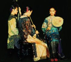 Group of musicians by Chen Yifei