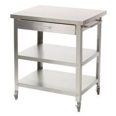 Stainless Steel Kitchen Cart without Top modern bar carts Kitchen Colors, Kitchen Layout, Diy Kitchen, Kitchen Design, Kitchen Unit, Family Kitchen, Kitchen Tips, Kitchen Ideas, Kitchen Island Bar