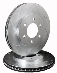 ATL Autosports Performance Brake Rotors Front Pair Fits 2001 GMC Yukon XL 1500 ATL55054-163SO, Silver