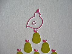 holiday card letterpress - Google Search