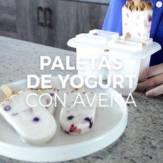 Picolés de iogurte com aveia e frutas, Healthy Sweets, Healthy Drinks, Healthy Snacks, Mexican Food Recipes, Snack Recipes, Dessert Recipes, Comida Diy, Deli Food, Yummy Food