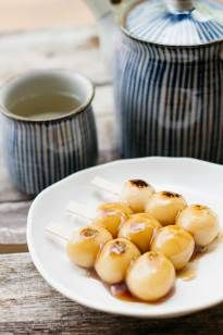 Mitarashi Dango is a Japanese sweet made from only two ingredients with a delicious syrup!