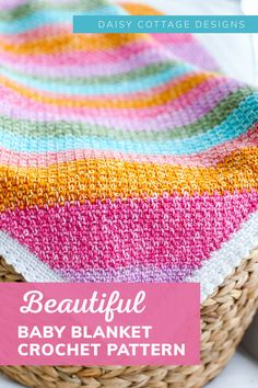 Stitch Crochet, C2c Crochet, Free Crochet, Crochet Afghans, Baby Afghans, Easy Crochet, Baby Afghan Crochet Patterns, Baby Blanket Crochet, Knitting Patterns