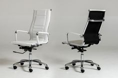 Modern Furniture - VIG Furniture - Modrest Harrison Modern White Leatherette Office Chair - Modern and Contemporary Furniture for the Modern Lifestyle