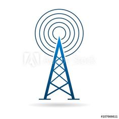 Antenna tower with waves logo.Vector graphic design illustration - Buy this stock vector and explore similar vectors at Adobe Stock Vector Design, Logo Design, Tower Climber, Radio Rebel, Internet Television, Communication Logo, Waves Logo, Wireless Network, Technology Logo