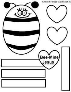 Bee Mine Jesus Bulletin Board Bee Or Craft For Kids In Sunday School Or  Childrenu0027s Church