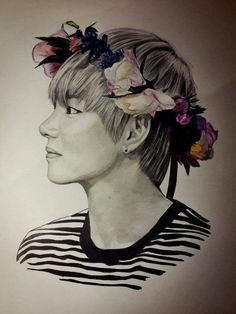 petit dessin drawing Kpop {Taehyung(v)}[BTS] // this is so good I'm speechless