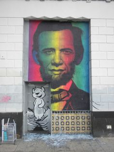 """""""Lincoln Obama"""", Street Art by Ron English"""