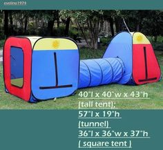 Huge,Play Hut. Tent,Tunnel,Room, Playground,Children's Party,House, 3 Piece Set