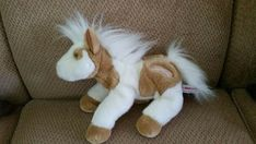 Aurora Chincoteague Island VA Horse Pony Plush Tan White Stuffed Animal EUC #Aurora