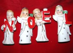 I love these angels spelling out Noel. $20 on Etsy
