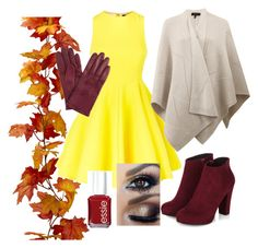 """Autumn color "" by soccute ❤ liked on Polyvore featuring AQ/AQ, rag & bone, John Lewis and Essie"