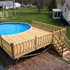 Above Ground Pool Decks Pool Deck Ideas For