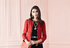 Vintage Chanel Apparel -                                                                        Boucle Dress With Fringe                                 Black & White Snap Trim Boucle Coat                                 Black & White Fantasy Tweed Camellia Trim Boucle Skirt Suit                          ...  #Belt, #Cardigan, #Charm, #Dress, #Jacket, #Pan, #Pin, #Pullon, #Rhinestone, #Sweater, #Tie