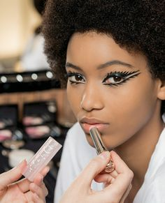 Dior couture makeup backstage 2018