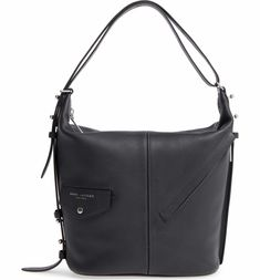 e520374f172d Main Image - MARC JACOBS The Sling Convertible Leather Hobo Leather Backpack  Purse