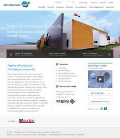 Website Design for Vanta Bioscience. View more website design samples here: http://www.niyati.com/website-portfolio
