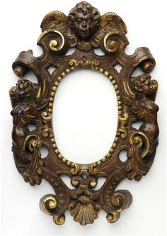 Carved and pierced walnut, originally partially water gilded oval frame, bequeathed by David Martin Currie Mirrored Picture Frames, Antique Picture Frames, Antique Pictures, Antique Frames, Antique Art, Art Pictures, Art Nouveau, Boarders And Frames, Oval Frame