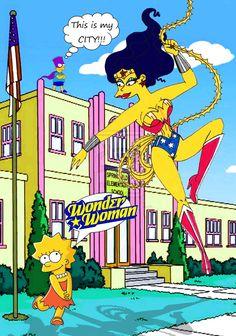 Lisa Simpson and Wonder Woman by ~Chalana87
