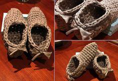 TallerdeLuna: Zapatillas de casa en trapillo. Modelo I