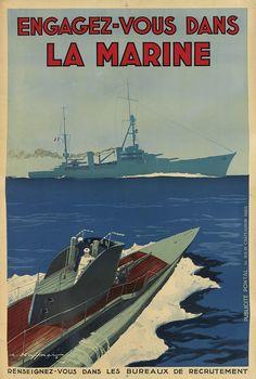 Engagez-vous dans la marine - illustration de Leon Haffner -