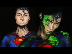 Kryptonite Superman/Superman Comic Makeup Tutorial - YouTube