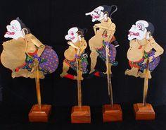 4pcs Indonesian Wayang Kulit Punakawan, Punokawan Shadow Puppets, Handmade A+