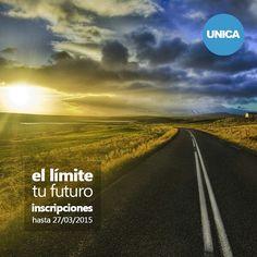 """""""El límite...¡tu futuro!  Inscripciones para el LAR I-2015 hasta el 27/03.  Más información: www.unica.edu.ve"""""""
