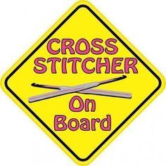 Cross Stitcher On Board Stitching Stickers