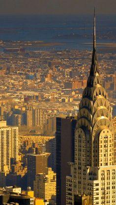 New York skyline, the Chrysler Building