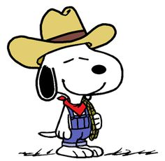 Snoopy as The World Famous Ranch Hand