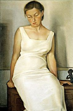 White Dress (1936) by Otis William Oldfield (1890-1969), American was one of the artists involved in the New Deal Public Works Art Project  in the Coit Tower mural (Bjws)