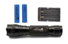 UltraFire LED Flashlight Cree XM-L T6 1000 Lumen Light Charger Battery Hunting #UltraFireLEDFlashlight