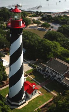 St. Augustine Lighthouse ~ St. Augustine, Florida.    Saw this one , such an experience to climb steps to the top !!!