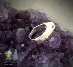 Asymmetric Ring ,Sterling Silver Ring de Dcastjoyas en Etsy