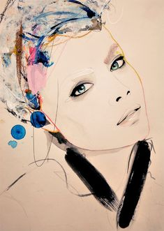 Fashion Illustration Print Abiding by Leigh Viner by LeighViner