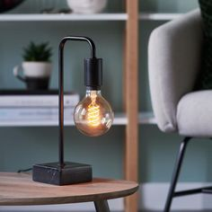 Kave Home Georg Nachtkastje Decor, Lighting, Lamp, Desk Lamp, Edison Light Bulbs, Home Decor, Welding Projects, Light Bulb, New Room